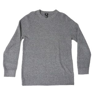 H&M Mens Medium Knit Sweater Grey Medium - EUC